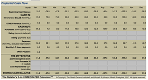 AND - fully integrated CASH FLOW projection! Automagically!