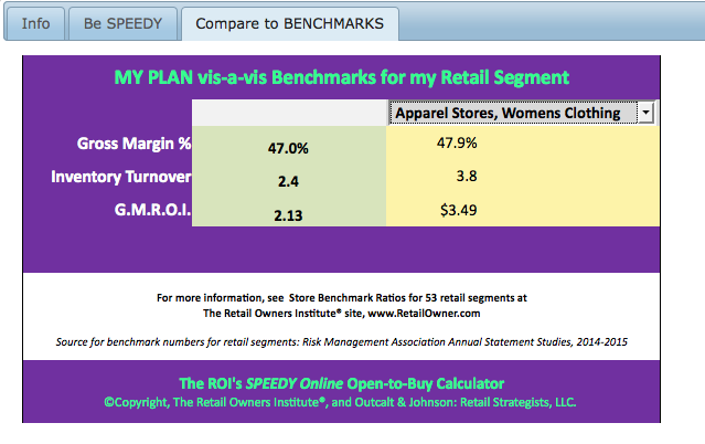 Compare to benchmarks