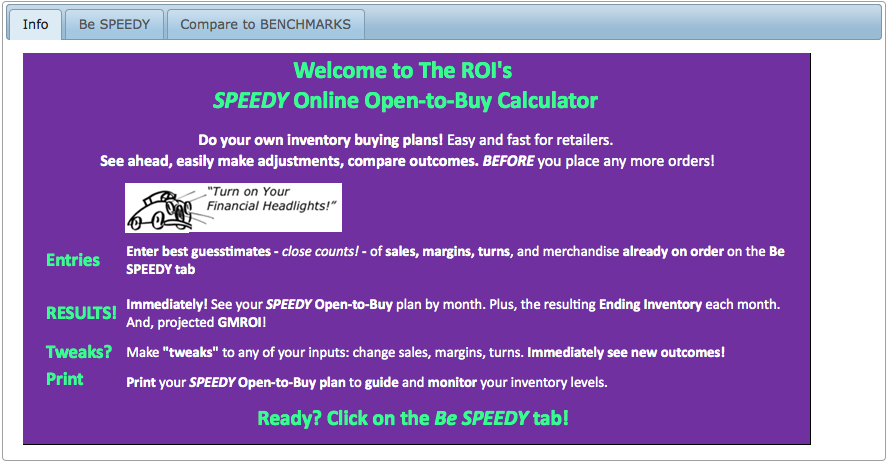 SPEEDY Open-to-Buy Calculator