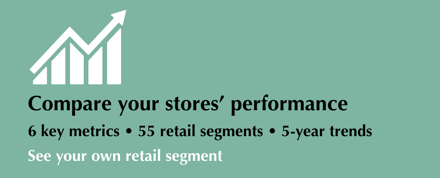 Compare your stores - 6 key retail benchmarks - 5 year trend charts