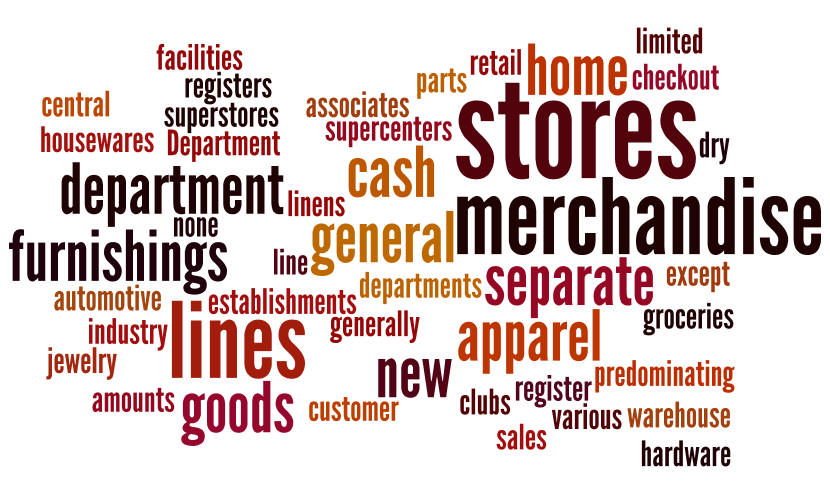 General Merchandise stores benchmarks